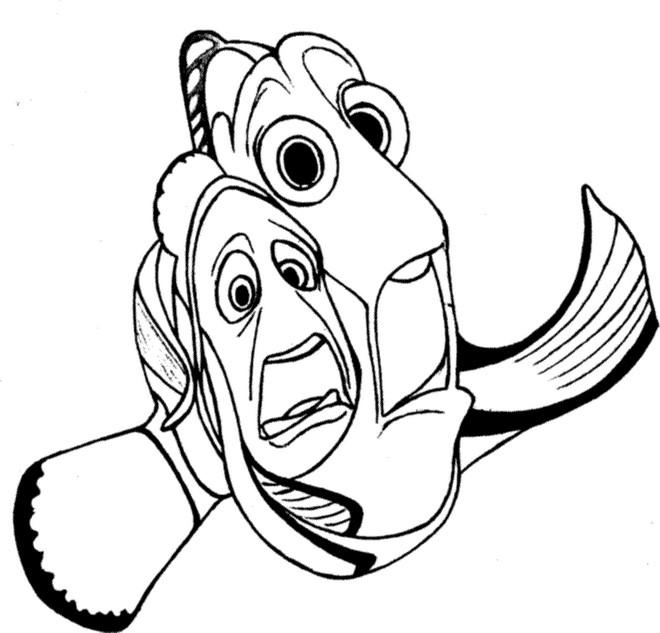 Coloriage Nemo Et Marin Dans Le Monde De Dory Dessin Gratuit à Imprimer