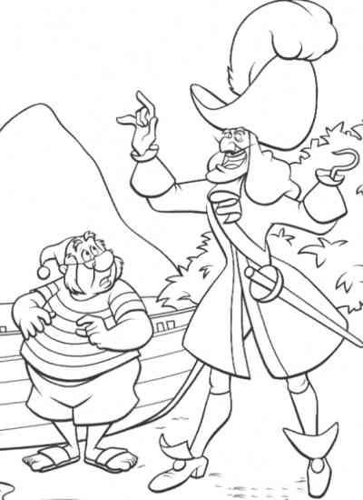 Coloriage et dessins gratuits Capitaine Crochet et Monsieur Mouche à imprimer