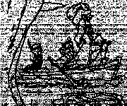 Coloriage Capitaine Crochet prend Lily en captivité