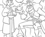 Coloriage Capitaine Crochet se lamente à Wendy