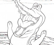 Coloriage Le crocodile de Peter Pan