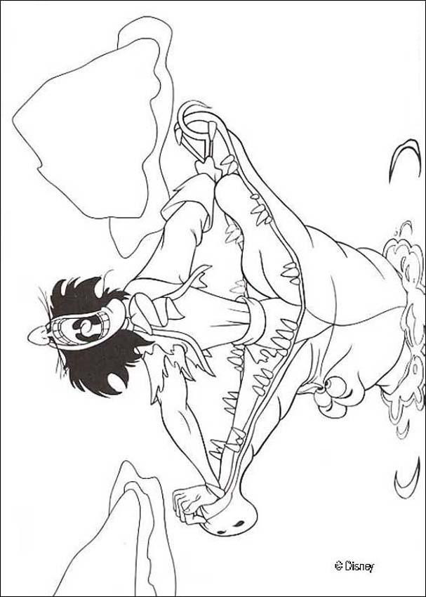 Coloriage et dessins gratuits Le crocodile et Peter Pan à imprimer