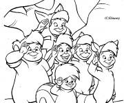 Coloriage et dessins gratuit Les enfants perdus de Peter Pan à imprimer