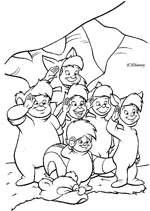 Coloriage et dessins gratuits Les enfants perdus de Peter Pan à imprimer