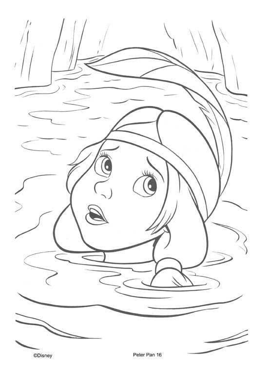 Coloriage et dessins gratuits Lily la Tigresse de Peter Pan à imprimer