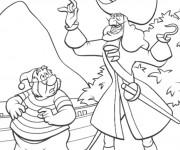 Coloriage Monsieur Mouche et Capitaine Crochet