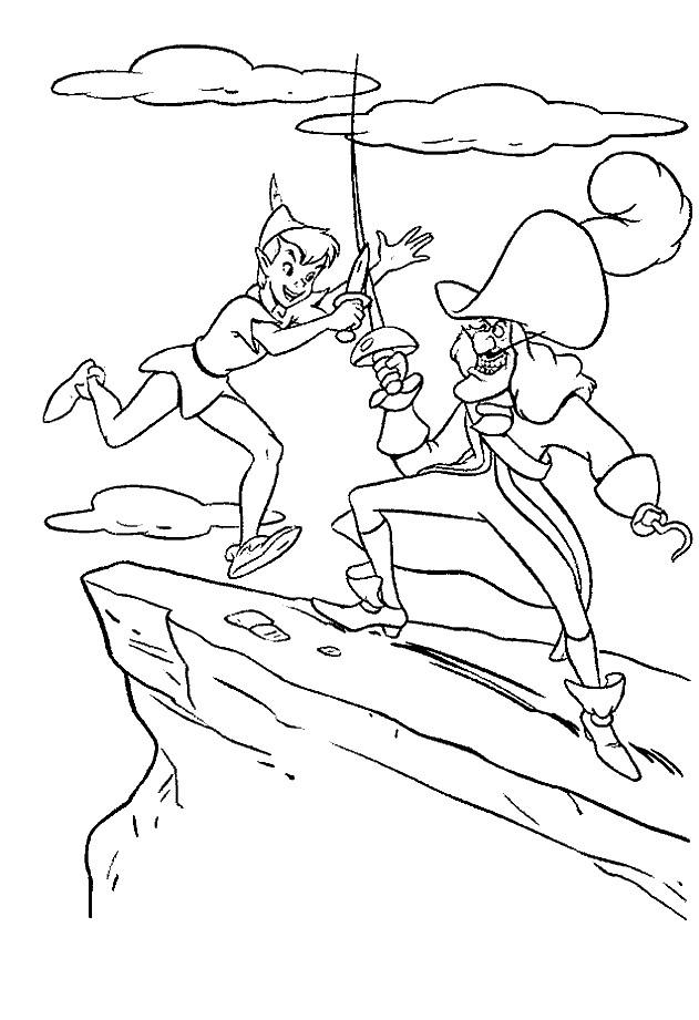 Coloriage et dessins gratuits Peter et Capitaine Crochet à imprimer
