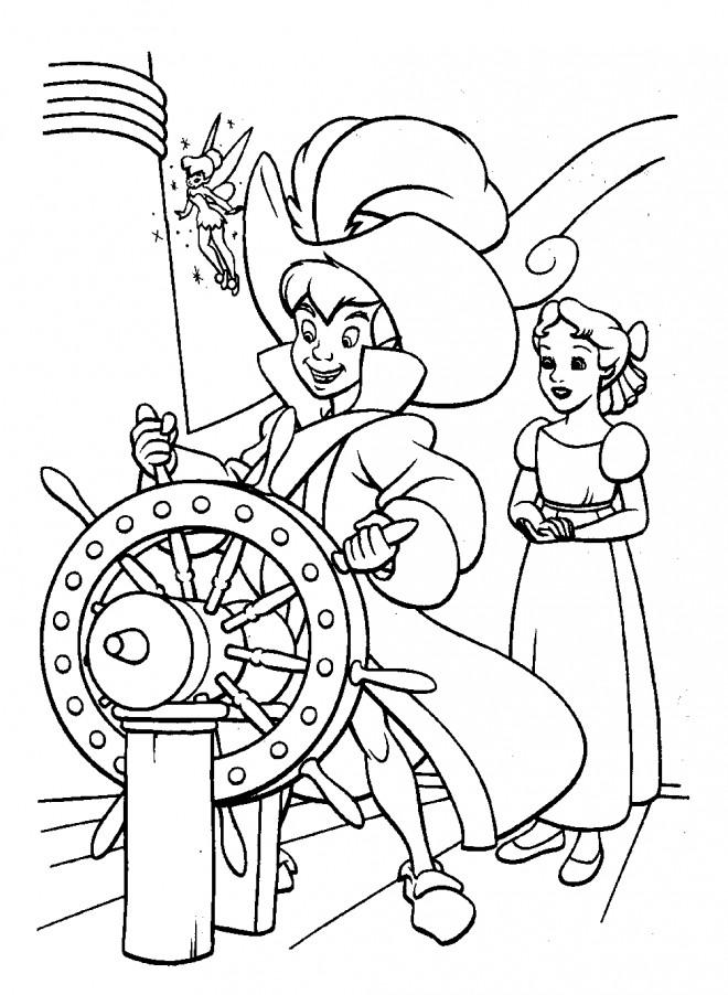 Coloriage peter pan conduit le bateau pirate dessin gratuit imprimer - Dessin anime de crocodile ...