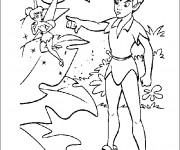 Coloriage et dessins gratuit Peter Pan gronde Clochette la fée à imprimer