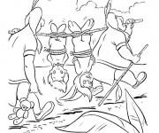 Coloriage Peter Pan les enfants perdus