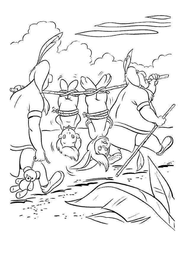Coloriage et dessins gratuits Peter Pan les enfants perdus à imprimer