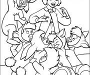 Coloriage Wendy avec les enfants perdus