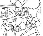 Coloriage wendy et capitaine crochet dessin gratuit imprimer - Capitaine crochet coloriage ...