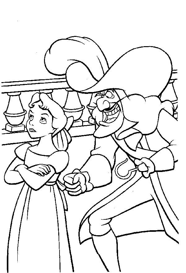 Coloriage wendy et capitaine crochet dessin gratuit imprimer - Dessin anime de crocodile ...