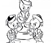 Coloriage Riri, Fifi et Loulou sont mécontents