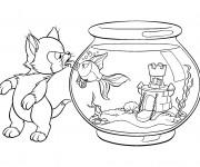 Coloriage et dessins gratuit Figaro et Cléo à imprimer