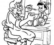 Coloriage Gapetto  met les couleurs sur Pinocchio 11