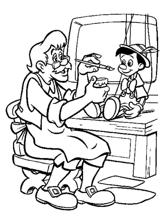 Coloriage et dessins gratuits Gapetto  met les couleurs sur Pinocchio 11 à imprimer