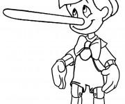 Coloriage et dessins gratuit Pinocchio a menti à imprimer