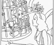 Coloriage et dessins gratuit Pinocchio et la fée Bleue à imprimer