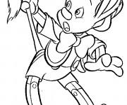 Coloriage Pinocchio se transforme en un âne
