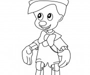 Coloriage Pinocchio simple