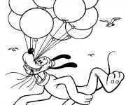 Coloriage et dessins gratuit Pluto vole à imprimer