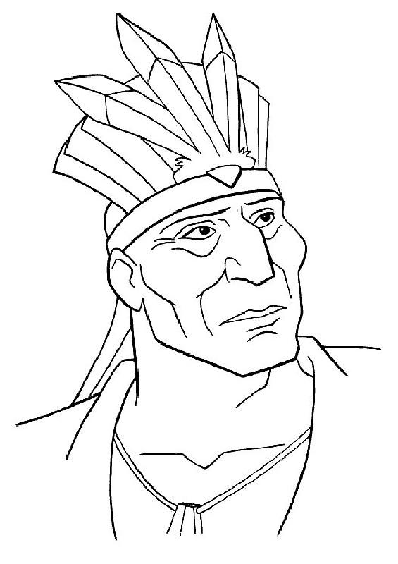 Coloriage et dessins gratuits Le père de Pocahantas à imprimer