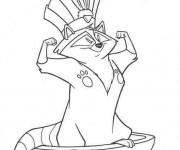 Coloriage et dessins gratuit Meeko comme un chef de tribu à imprimer
