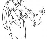Coloriage et dessins gratuit Meeko joue avec un papillon à imprimer