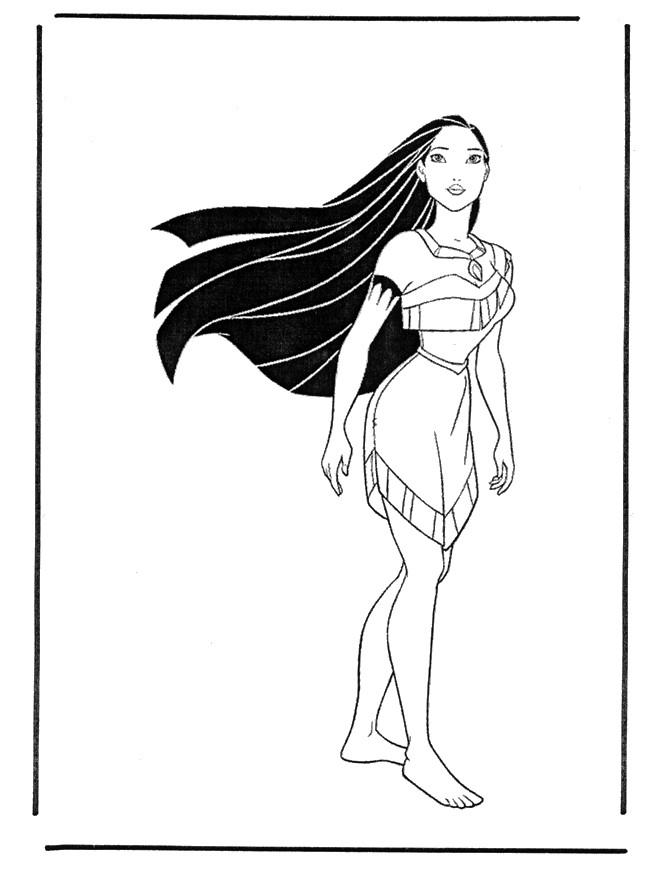Coloriage et dessins gratuits Pocahontas 11 à imprimer