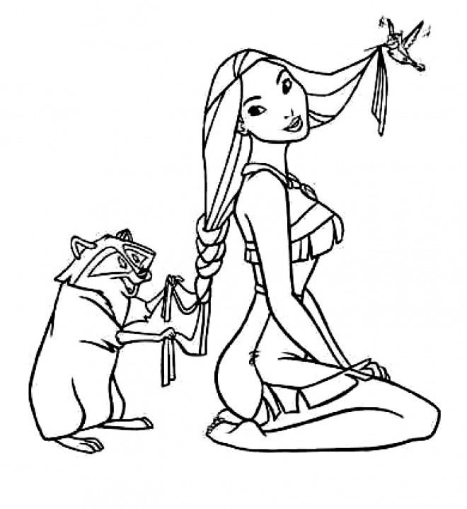 Coloriage et dessins gratuits Pocahontas 19 à imprimer