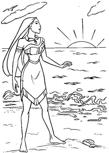 Coloriage et dessins gratuits Pocahontas 34 à imprimer