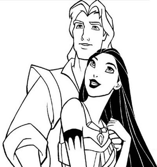 Coloriage et dessins gratuits Pocahontas 35 à imprimer