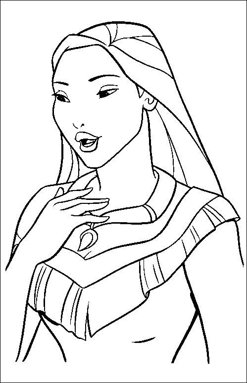 Coloriage et dessins gratuits Pocahontas 36 à imprimer