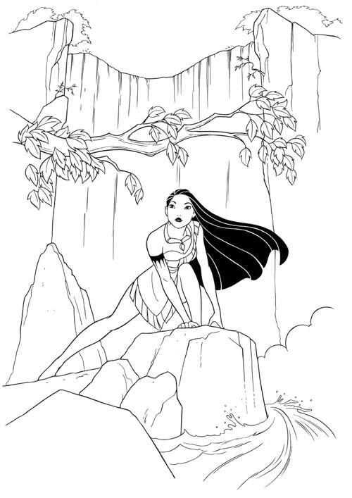 Coloriage et dessins gratuits Pocahontas 44 à imprimer