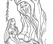 Coloriage Pocahontas et  Grand-mère Willow