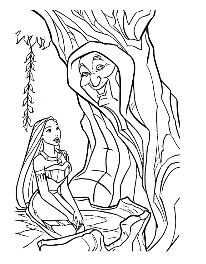Coloriage Pocahontas Et Grand M 232 Re Willow