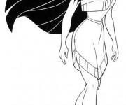 Coloriage et dessins gratuit Pocahontas se tient debout à imprimer