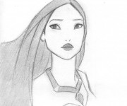 Coloriage Pocahontas simple