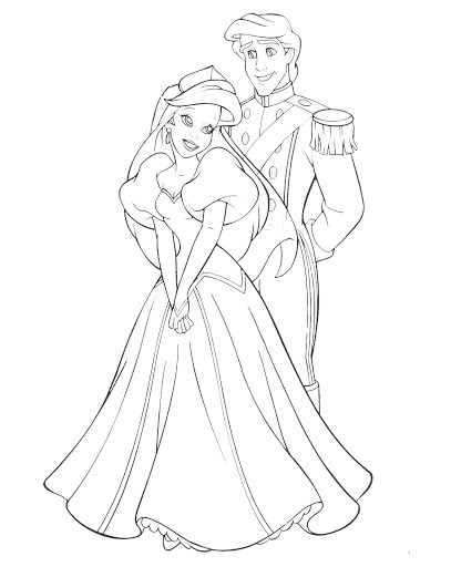 ariel coloring pages wedding dresses - photo#23