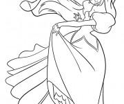 Coloriage dessin  Princesse Ariel entrain de danser