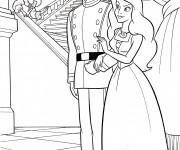 Coloriage dessin  Princesse Ariel est surprise