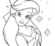 Coloriage et dessins gratuit Princesse Ariel sourit à imprimer