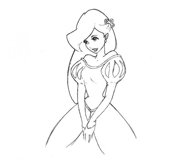 Coloriage et dessins gratuits Princesse Ariel timide à imprimer