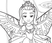Coloriage et dessins gratuit Amber dans princesse Sophia à imprimer
