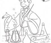 Coloriage Cédric le magicien dans princesse Sofia