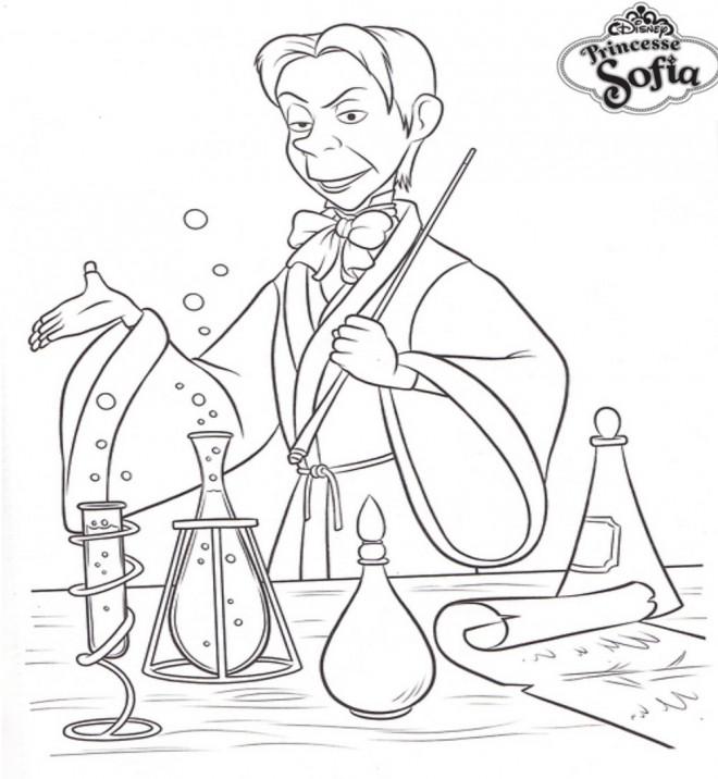 Coloriage et dessins gratuits Cédric le magicien dans princesse Sofia à imprimer