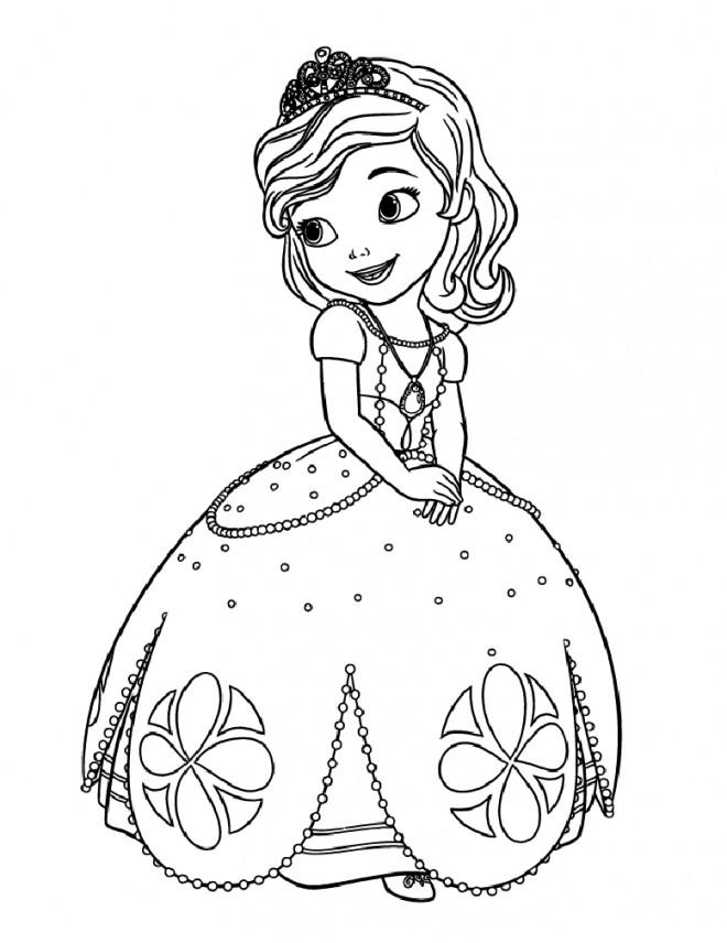 Coloriage dessin princesse sofia facile dessin gratuit - Coloriage princesse ambre ...