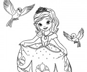 Coloriage Disney Princesse Sofia